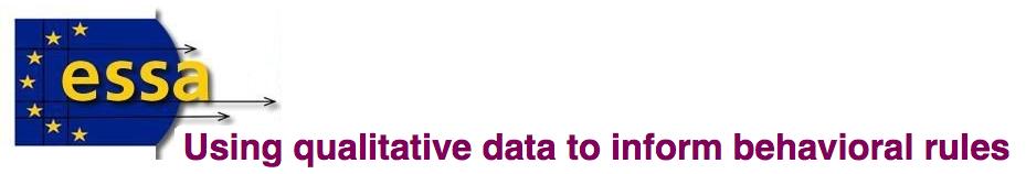 Using qualitative data to inform behavioral rules